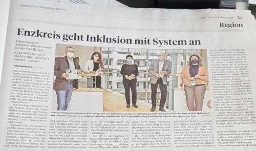 PZ Enzkreis geht Inklusion mit System an 13.12.2020